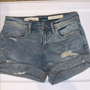 Cuffed Anthropologie jean shorts, size 25, NWT
